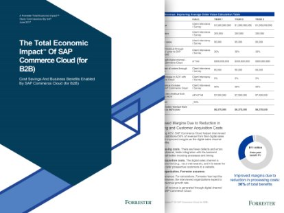 Screenshot from the Forrester Total Economic Impact of SAP Commerce Cloud study.