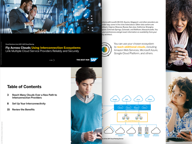 Image of a solution brief about the SAP Cloud Peering service