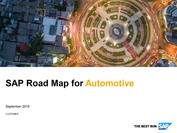 Screenshot from the automotive road map