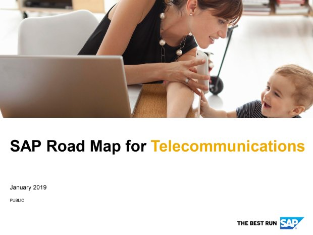 Screenshot from the telecommunications road map