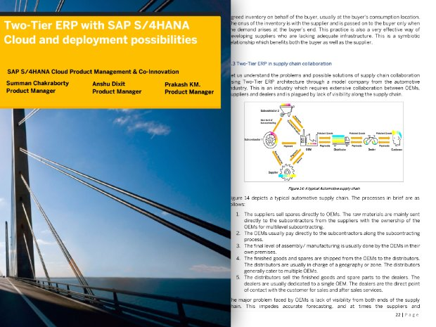 Image of whitepaper discussing of SAP S/4HANA