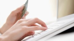 Person completing an online transaction