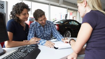 Consumers purchasing a car