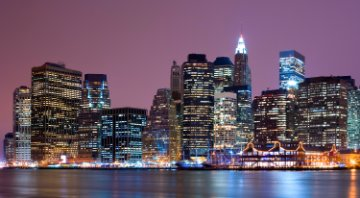 East River and Financial District, Manhattan, New York City