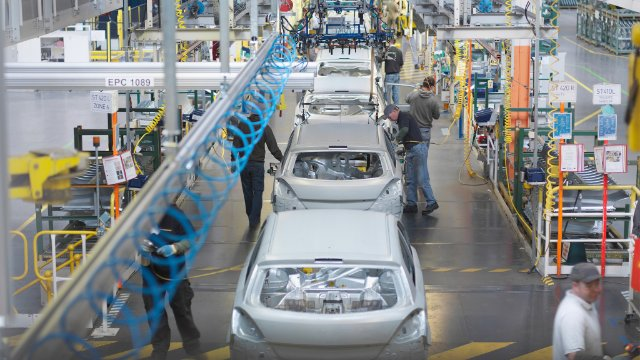 Car plant production line