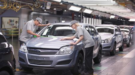 Automobile manufacturer assembly line