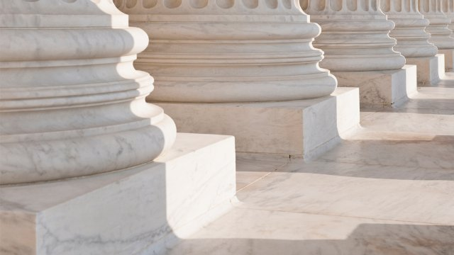 Marble columns of a government building