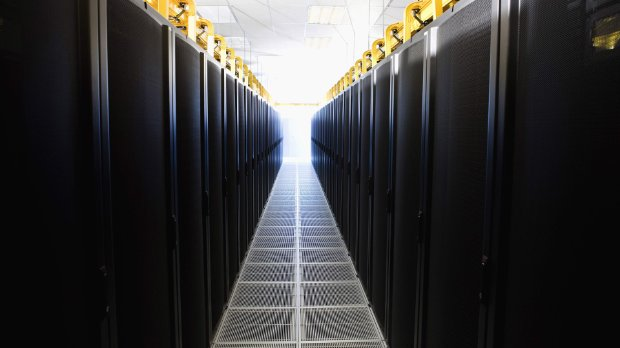 Image of a data center protecting sensitive data