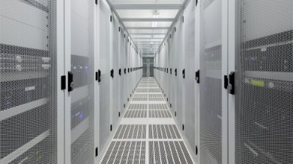 A view inside a data center