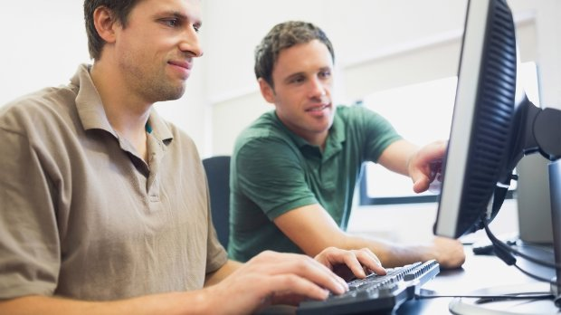 Image of SAP developers viewing a webinar