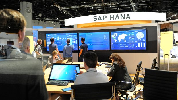 SAP HANA convention booth