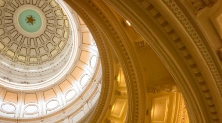 Ceiling of dome of Texas state capitol building