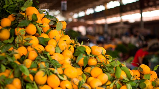 Oranges in a market