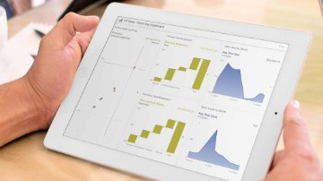 Visual analytics on a tablet