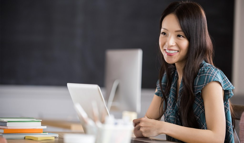 Businesswoman taking an SAP course to further her SAP software training
