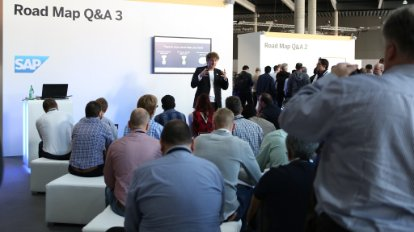 Image of attendees attending an SAP conference