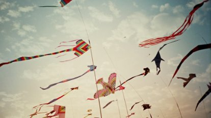 Image of kites in the sky