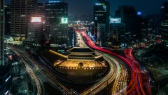 Night view of Seoul, South Korea