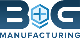 Logo for B&G Manufacturing, which has streamlined shop-floor control and insights with an integrated business overview.