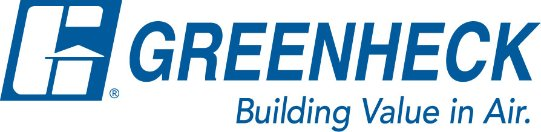 Logo for Greenheck Fan, which is increasing efficiencies and growth using a lean production process.