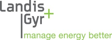 Logo for Landis+Gyr, a utility company using SAP Landscape Transformation software