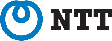 Logo for NTT, a telecommunications company that runs SAP S/4HANA