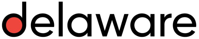 Logo for Delaware Consulting, which uses SAP S/4HANA Professional Services Cloud to support automated processes and mobile data access