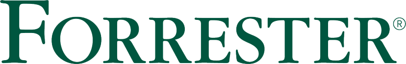 Image of Forrester logo, the analyst firm who wrote the reports on B2B and B2C commerce