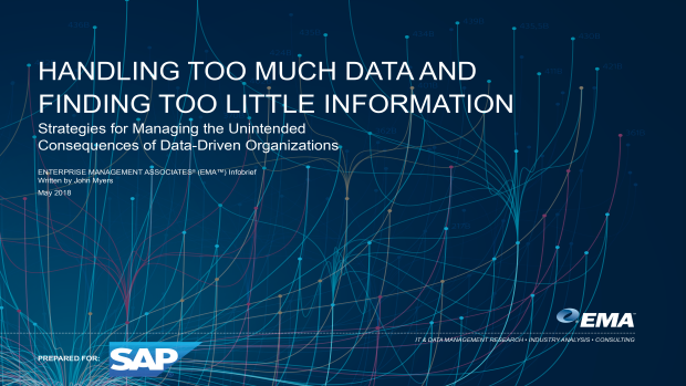 Screenshot of EMA-SAP DATA Infobrief detailing data management