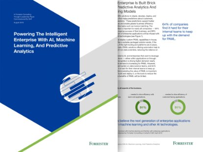 asset preview of a forrester report for the intelligent enterprise and analytics