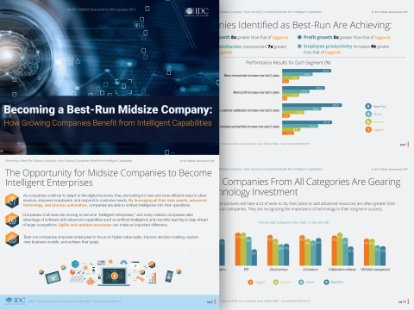 Screenshot from an IDC InfoBrief on midsize businesses and intelligent technology