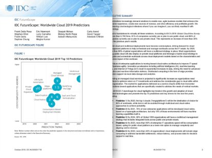 Preview of the report on cloud predictions