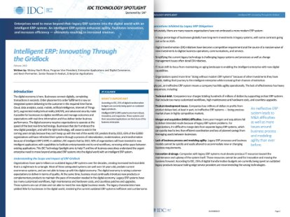Image of IDC intelligent erp report
