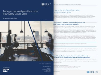 IDC white paper on the intelligent enterprise to achieve agility