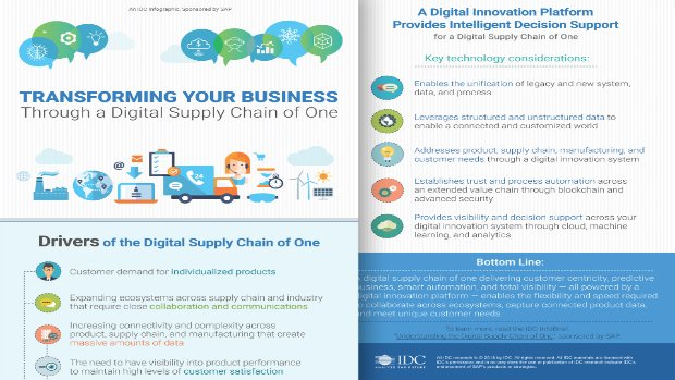 Screenshot from an infographic on transforming your business through a digital supply chain of one