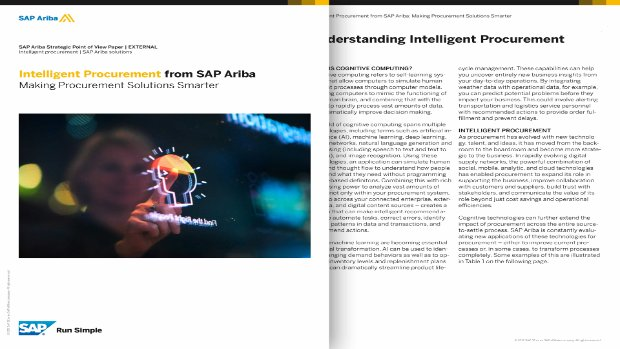 Image of SAP Ariba whitepaper