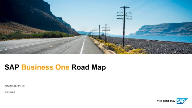 Image representing the product road map for enterprise resource planning capabilities enabled by SAP Business One software for small businesses