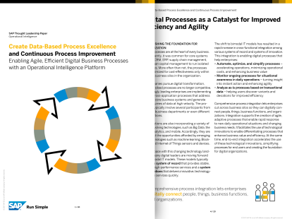 Screenshot from a white paper that shows how you can enable agile, efficient business processes by using an operational intelligence platform to analyse and monitor ongoing processes