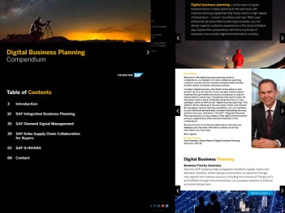 Screenshot of the SAP Digital Business Planning Compendium