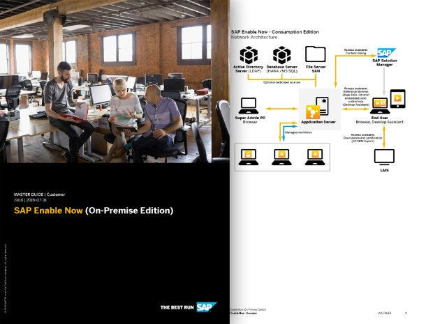 Preview of the master guide for SAP Enable Now