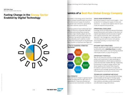 Screenshot from a white paper on fueling change with digital technology