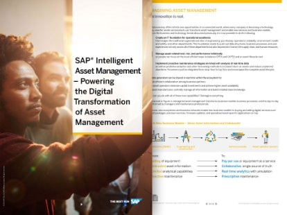 "Preview of the SAP whitepaper, ""SAP® Intelligent Asset Management – Powering the Digital Transformation  of Asset Management"""
