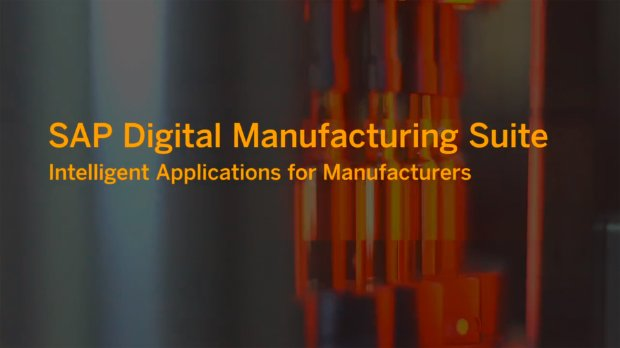 Screenshot from a video on the SAP Digital Manufacturing Suite
