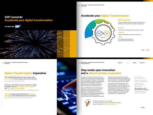 Preview of the SAP Leonardo solution brief