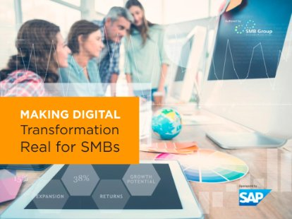 Captura de ecrã do e-book da SMB Group que explica pormenorizadamente de que modo o software de ERP, como o SAP Business One, pode ajudar as pequenas empresas a serem mais competitivas