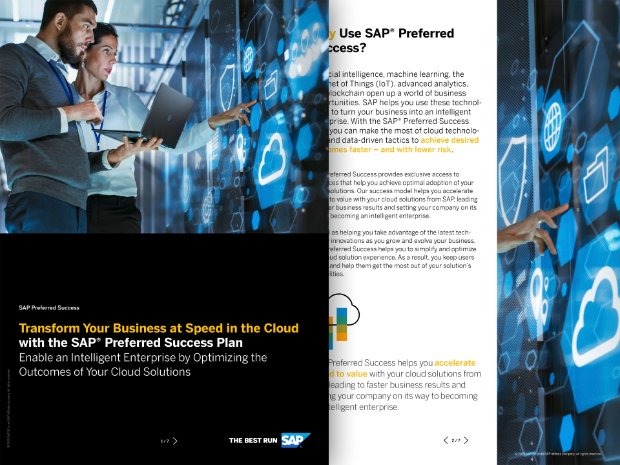 Screenshot of soluion brief on SAP Preferred Success