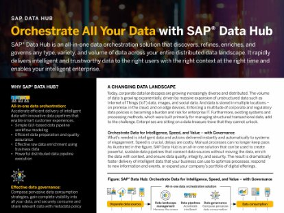 Screenshot of a paper on SAP Data Hub, a DataOps management solution that supports data sharing, pipelining, and governance