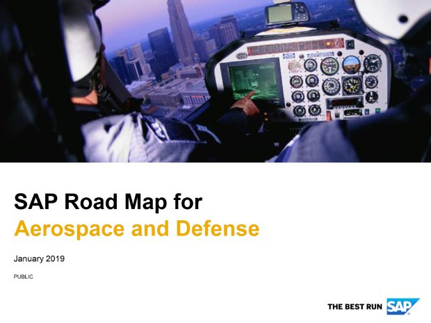 Screenshot from the aerospace and defense road map