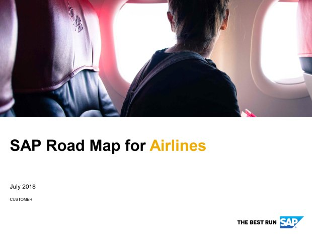 Screenshot from the airlines road map