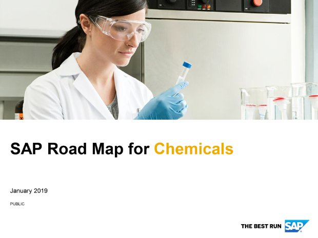 Screenshot from the chemicals road map